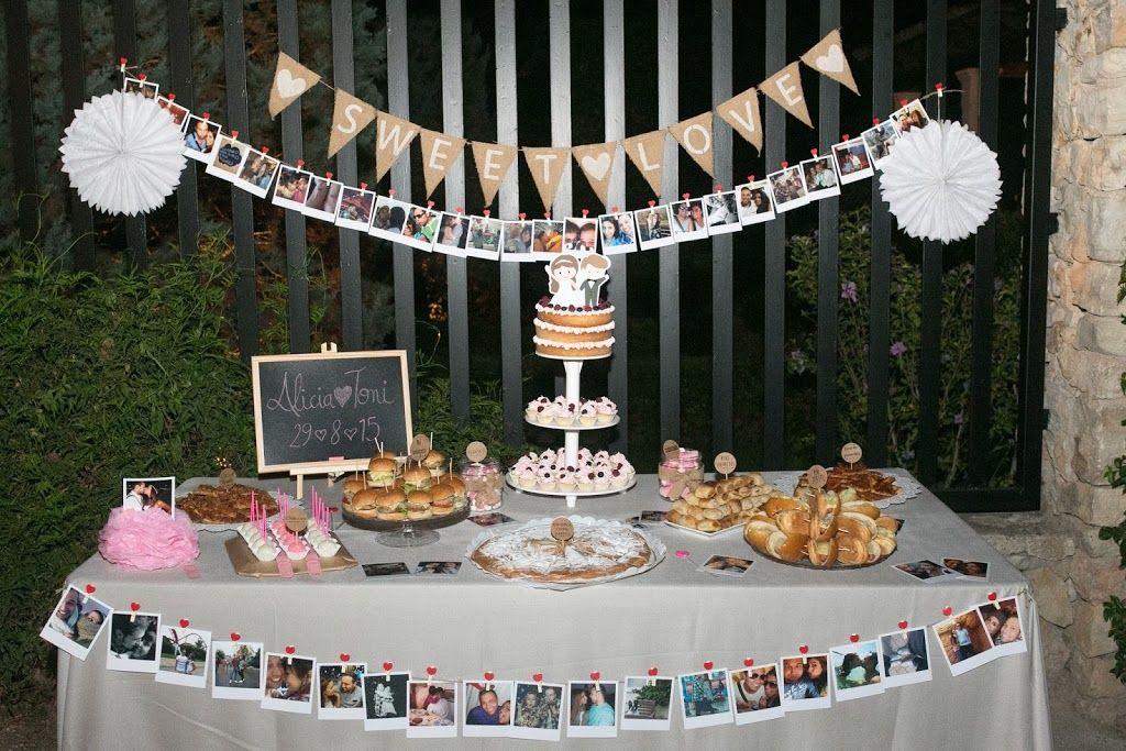 Mesa dulce/salada de la boda de Alicia&Toni