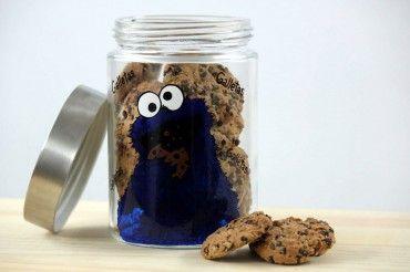Bote monstruo de las galletas