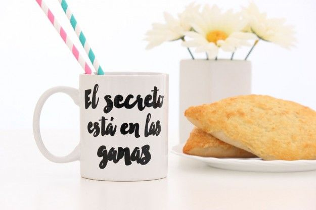 """Taza """"El secreto está en las ganas"""""""