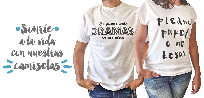 Sonríe a la vida con nuestras camisetas de chica y chico