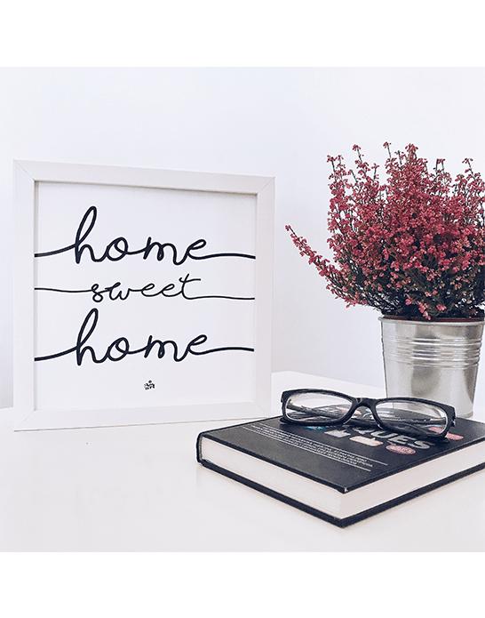 """Marco iluminado """"Home Sweet Home"""""""
