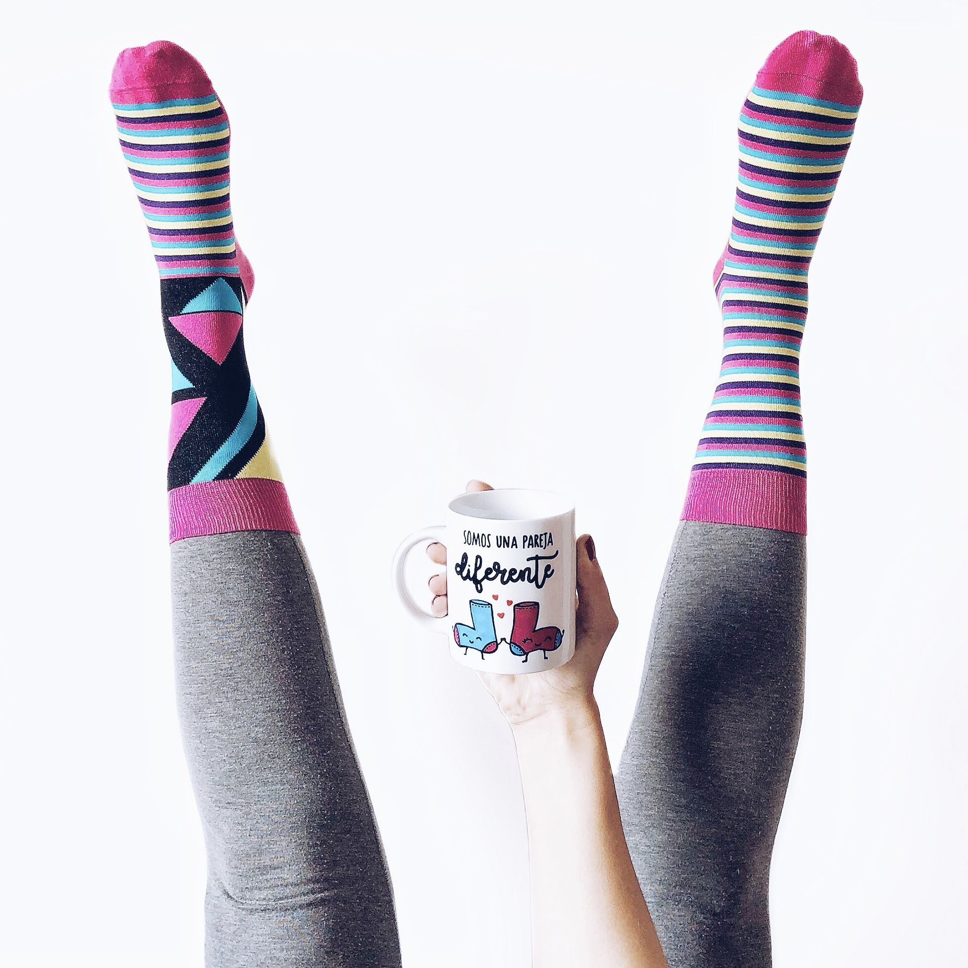 pack taza calcetines