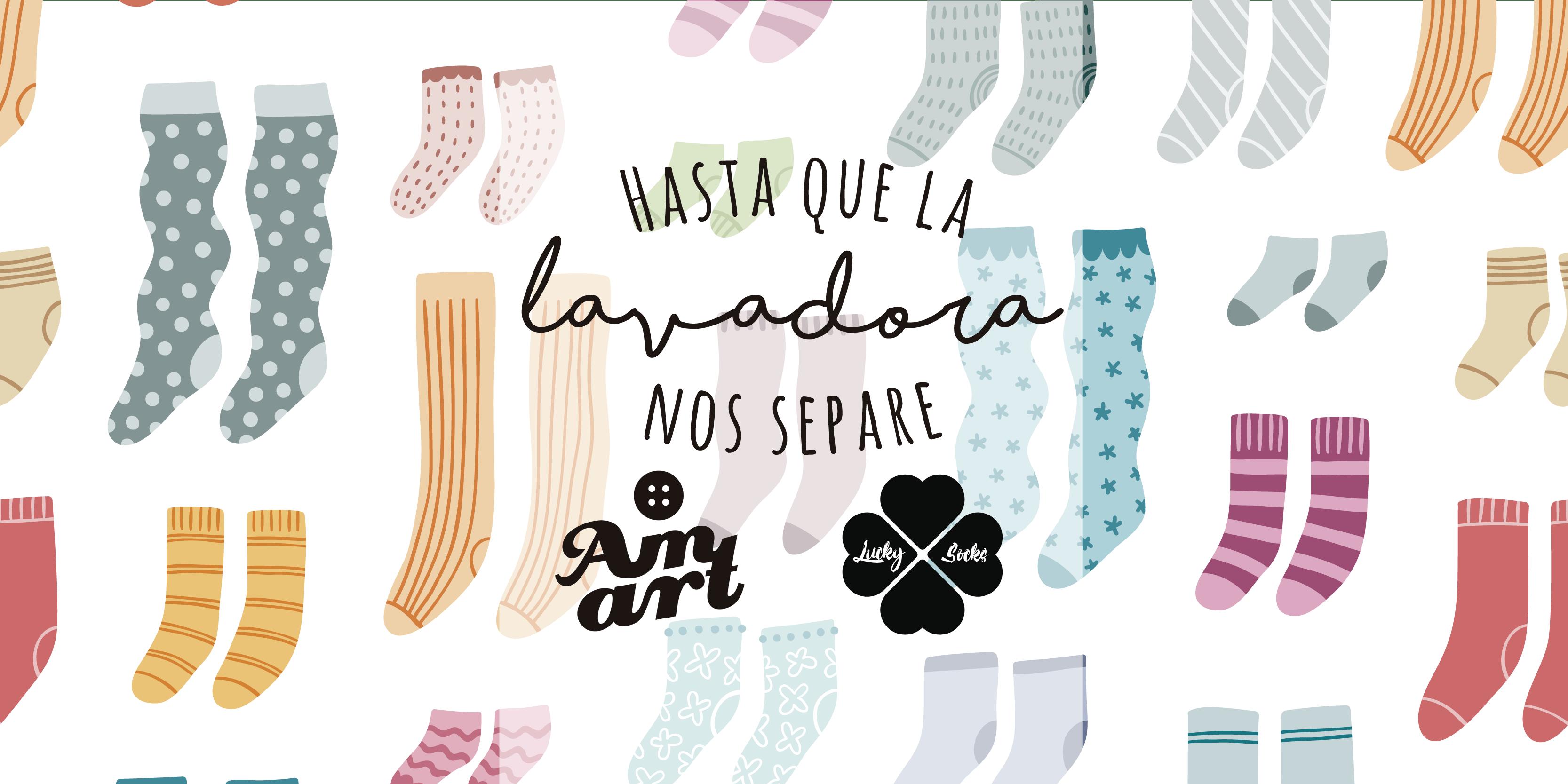 "Pack ""Hasta que la lavadora nos separe"": Lucky Socks + Amart Palma"