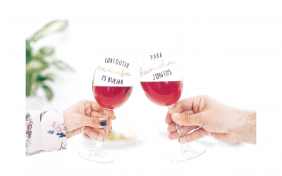 ¡Nuevas copas de vino con mensaje!