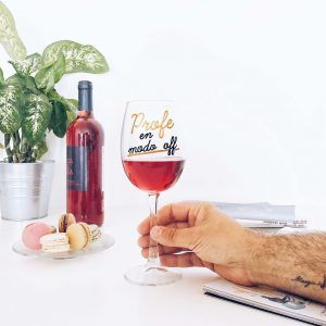 Copa de vino para profe